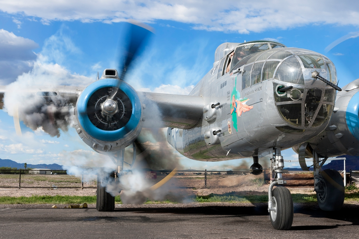 "B-25 Mitchell WW2 Bomber ""Maid In The Shade"""